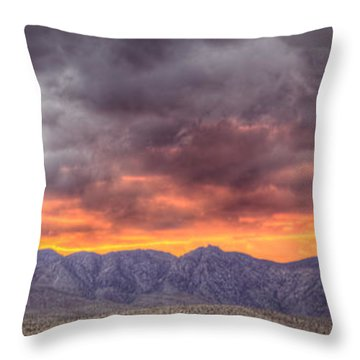 North Of Potosi Throw Pillow