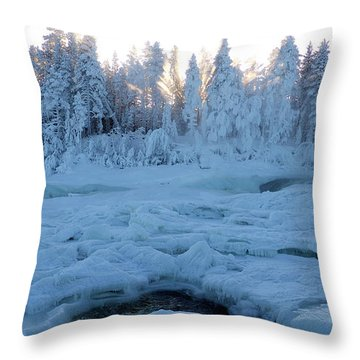 North Of Sweden Throw Pillow