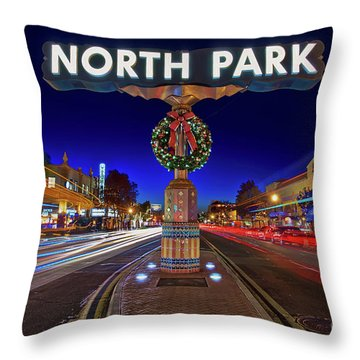 Throw Pillow featuring the photograph North Park Christmas Rush Hour by Sam Antonio Photography