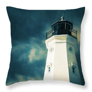 North Point Lighthouse Throw Pillow