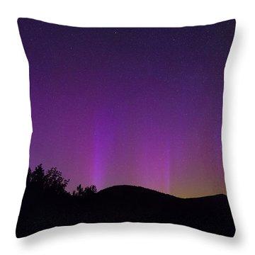 North Pole Northern Lights Throw Pillow