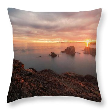 North Puget Sound Sunset Throw Pillow