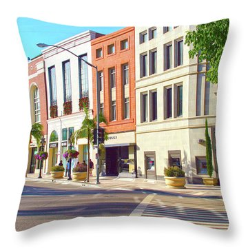 North Rodeo Drive Throw Pillow