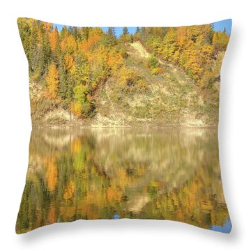 North Saskatchewan River Reflections Throw Pillow