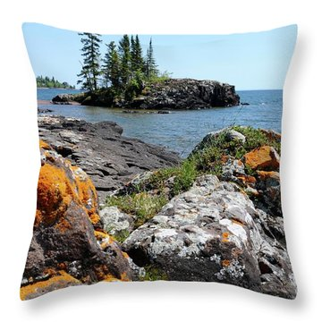 North Shore Beauty Throw Pillow by Sandra Updyke