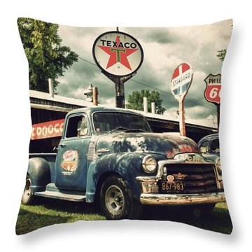 North Shore Garage Throw Pillow by Joel Witmeyer