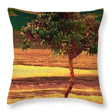 North Shore Gold Throw Pillow