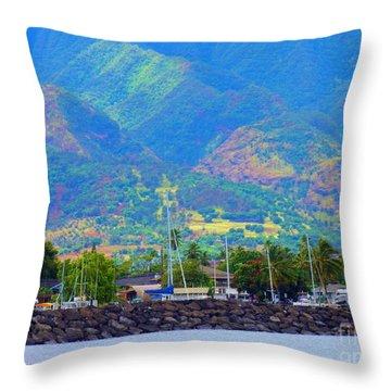 North Shore Haleiwa Hawaii  Throw Pillow