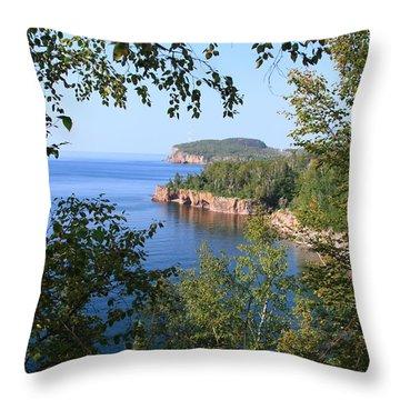 North Shore Lake Superior Throw Pillow