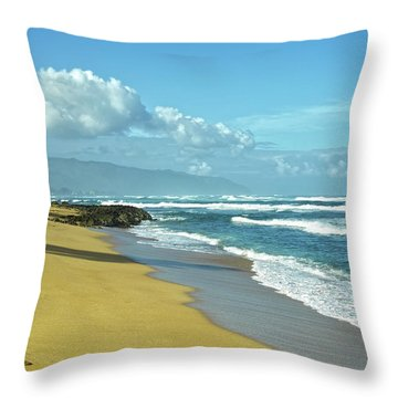 Throw Pillow featuring the photograph North Shore Morning by Lars Lentz