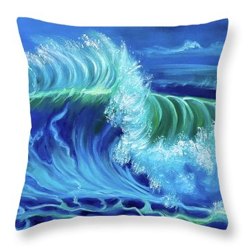 North Shore Wave Hawaii Jenny Lee Discount Throw Pillow