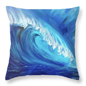 North Shore Wave Oahu 2 Throw Pillow