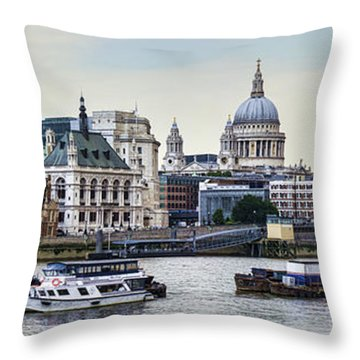 North Side Of The Thames Throw Pillow