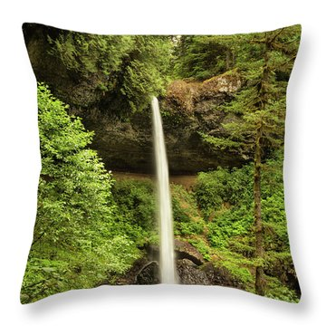 North Silver Falls Throw Pillow by Mary Jo Allen