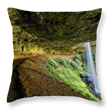 Throw Pillow featuring the photograph North Silver Falls Oregon by Pierre Leclerc Photography