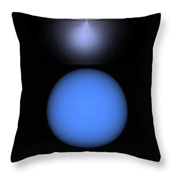 Throw Pillow featuring the digital art North Star by John Krakora