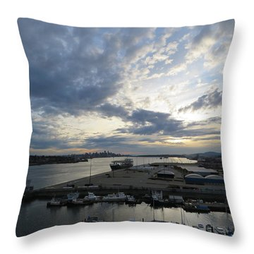 North Vancouver And Vancouver Throw Pillow