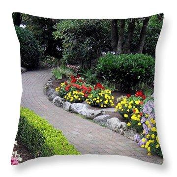 North Vancouver Garden Throw Pillow by Will Borden
