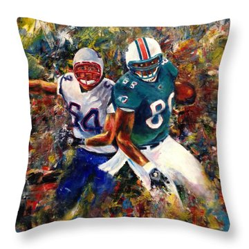 Throw Pillow featuring the painting North Vs. South by Sarah Farren