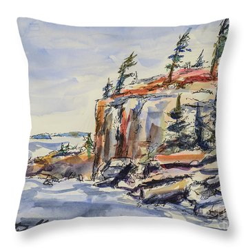 North Wind Throw Pillow by Heather Kertzer