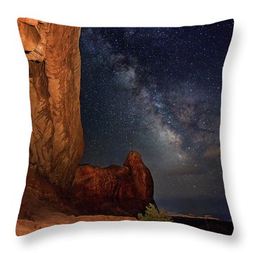 North Window And The Milky Way Throw Pillow
