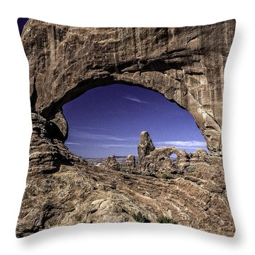 North Window, Arches Throw Pillow