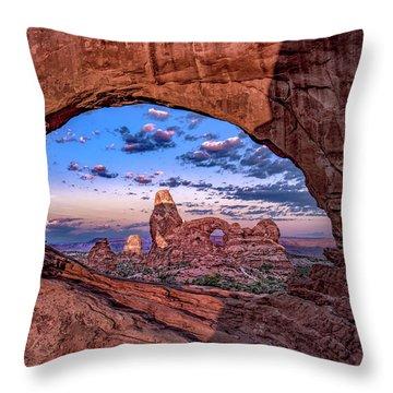 North Window At Sunrise Throw Pillow
