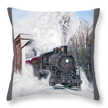Northbound At 35 Below Throw Pillow