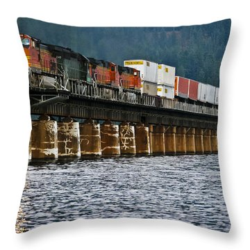 Northbound At Dusk Throw Pillow