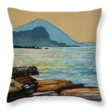 Northeast Coast Of Taiwan Throw Pillow