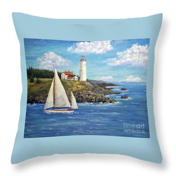 Northeast Coast Throw Pillow