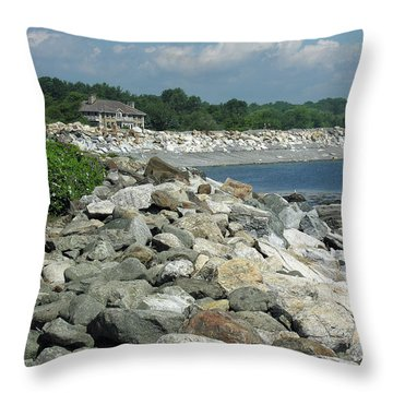 Northeast Us, Atlantic Coast, Rye Nh Throw Pillow by Betty Denise