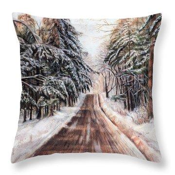 Northeast Winter Throw Pillow