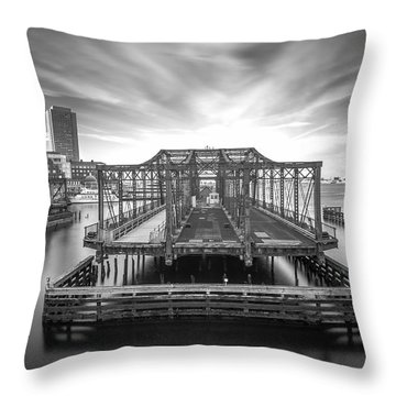 Northern Avenue Bridge Throw Pillow