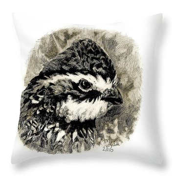 Northern Bobwhite Throw Pillow