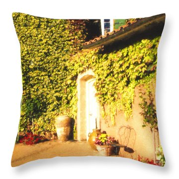 Northern California Winery Throw Pillow