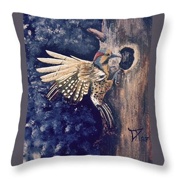 Northern Filicker Throw Pillow