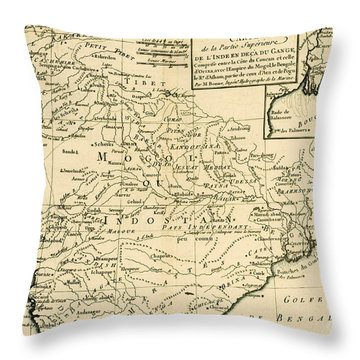 Northern India Throw Pillow by Guillaume Raynal