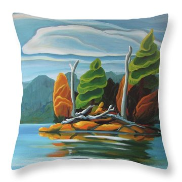 Northern Island Throw Pillow