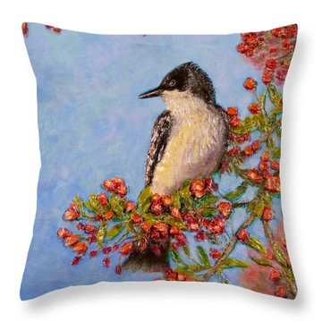 Northern King Bird  Throw Pillow