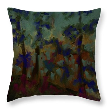 Throw Pillow featuring the digital art Northern Landscape II by Jim Vance