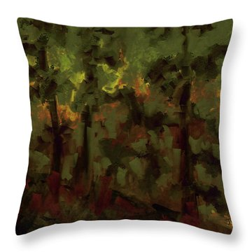 Throw Pillow featuring the digital art Northern Landscape by Jim Vance