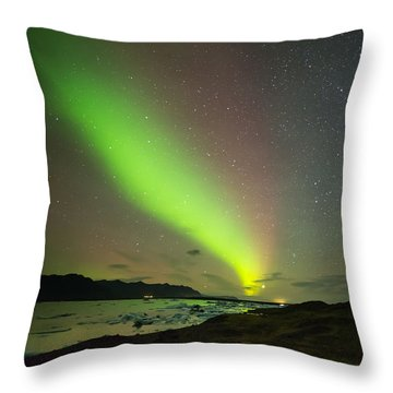 Northern Lights 7 Throw Pillow