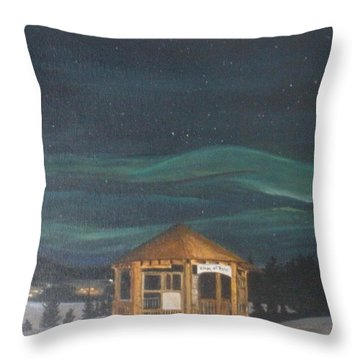 Throw Pillow featuring the painting Northern Lights by Betty-Anne McDonald