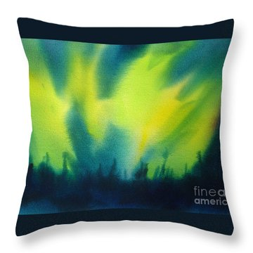 Northern Lights I Throw Pillow by Kathy Braud
