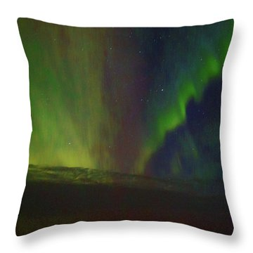 Northern Lights Or Auora Borealis Throw Pillow