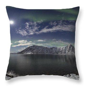 Northern Lights Panoramic II Throw Pillow
