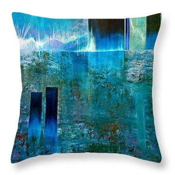 Northern Lights Rising Throw Pillow