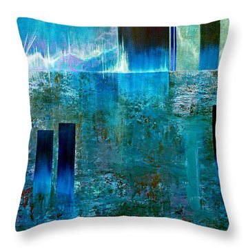 Northern Lights Rising Throw Pillow by Jim Whalen