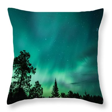 Northern Lights Tonight Throw Pillow